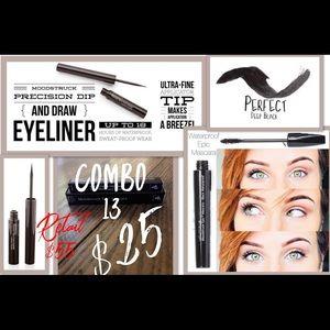 Eyeliner & mascara